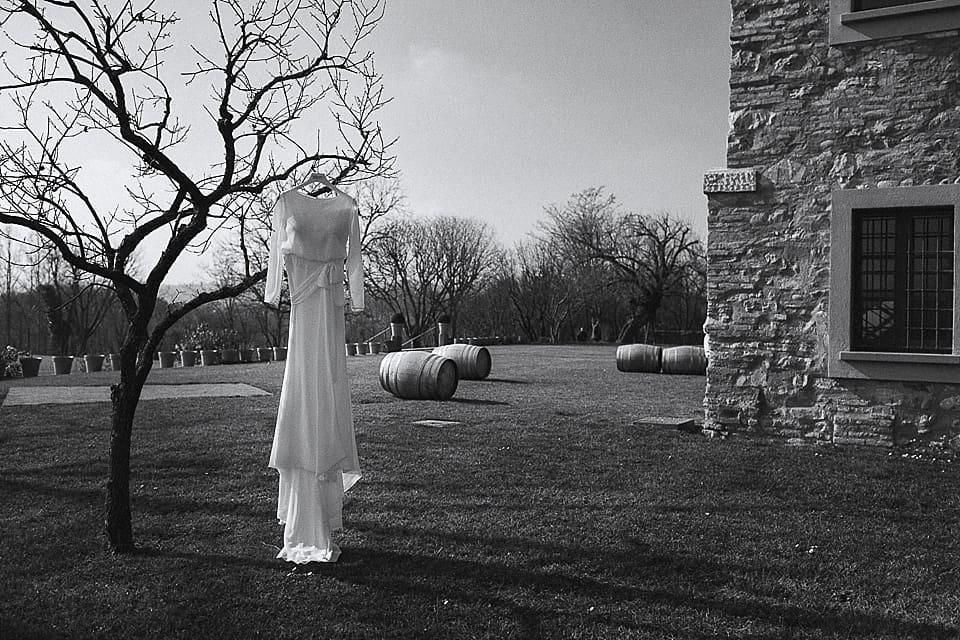 abito della sposa in Franciacorta