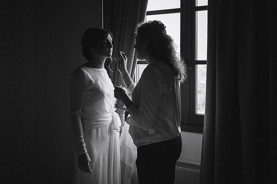 Trucco della sposa giunto al termine