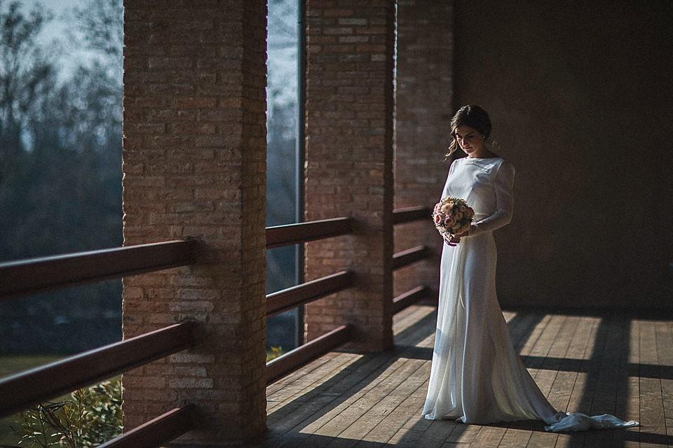 Ritratto della sposa a colori