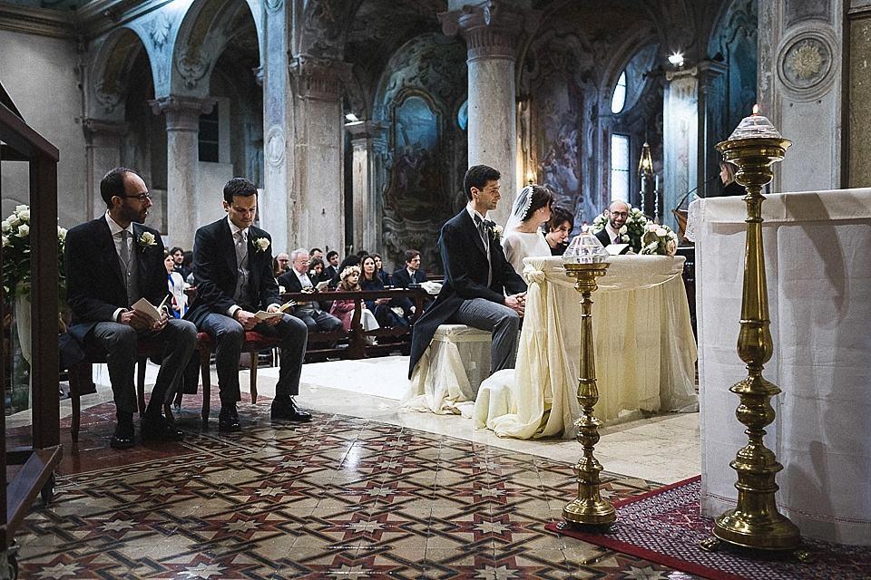 Abbazia di Rodengo durante un matrimonio invernale in franciacorta