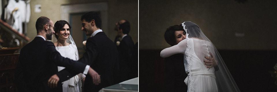 Gli abbracci delle persone importanti, matrimonio a Brescia