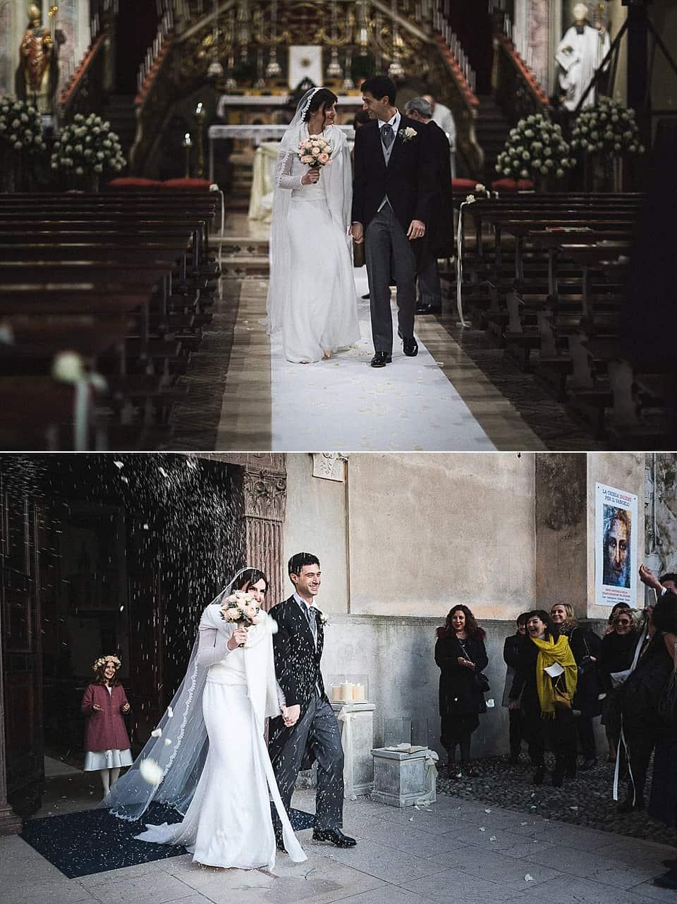 Uscita degli sposi dalla chiesa: fotografia del matrimonio