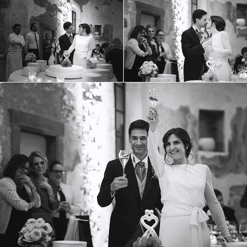 matrimonio invernale in franciacorta: taglio torta