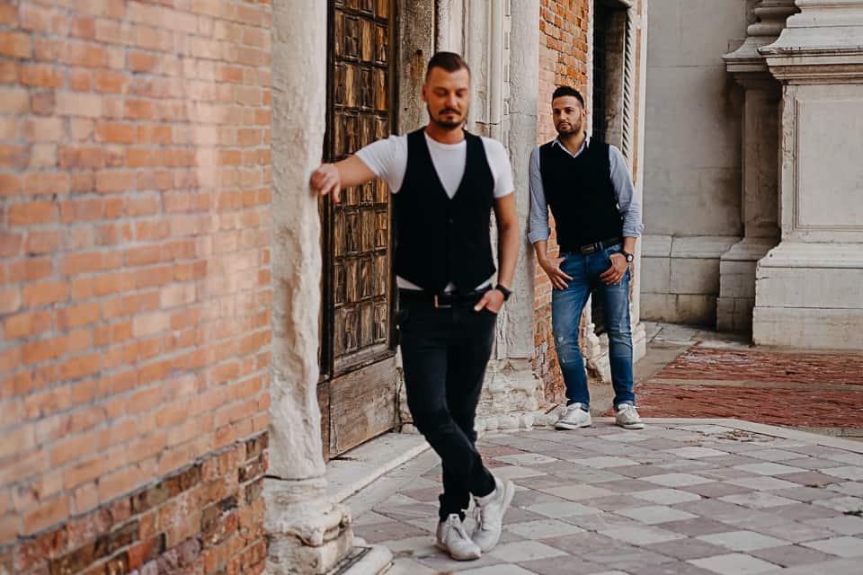 fotografia di fidanzati a venezia