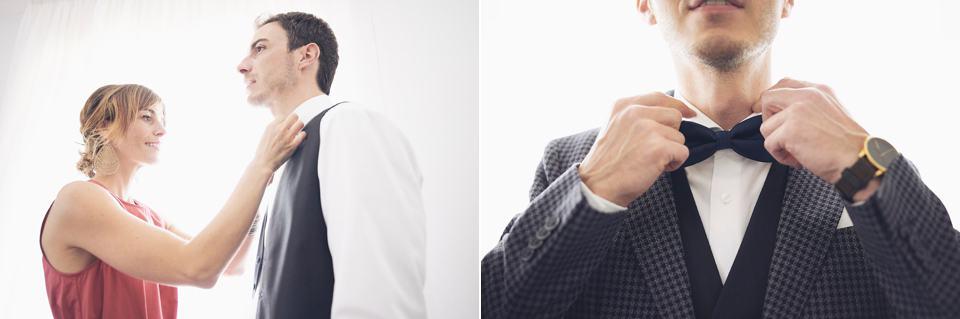vestizione sposo fotografo per matrimoni Brescia