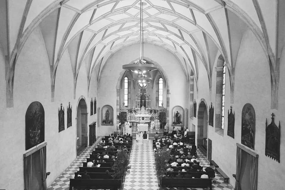 vista generale della chiesa dall'alto fotografo per matrimoni Brescia