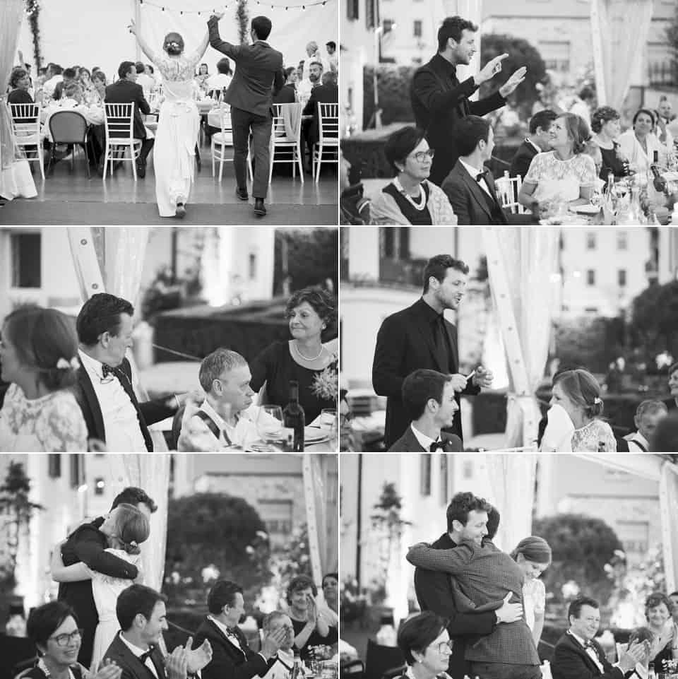 lo speech del fratello della sposa, lacrime come piovesse fotografo per matrimoni Brescia