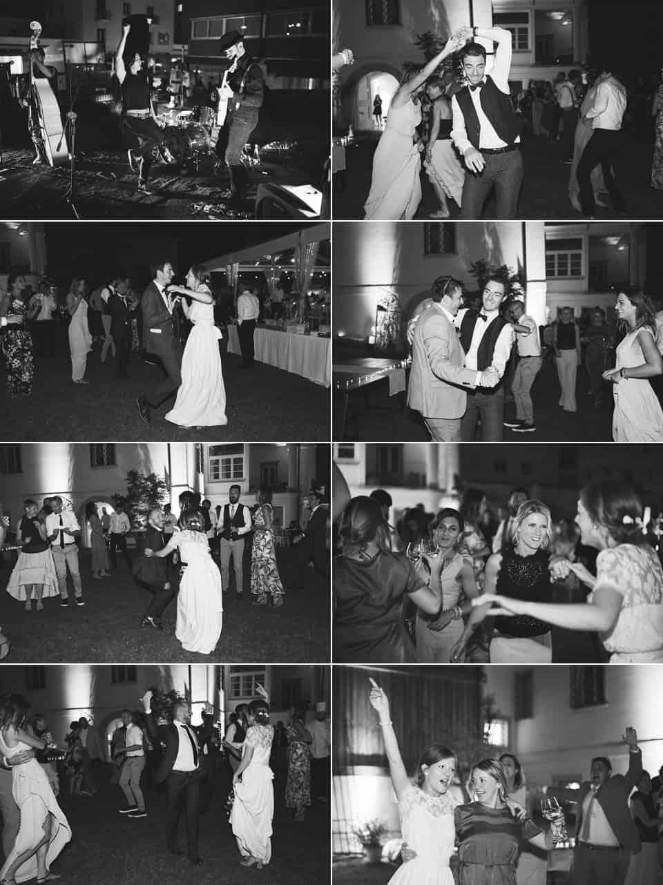 si aprono le danze al ritmo del rock fotografo per matrimoni Brescia